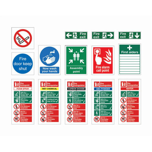 Safety Signs Starter Pack for Medium Sized Businesses Pack of 30 Signs