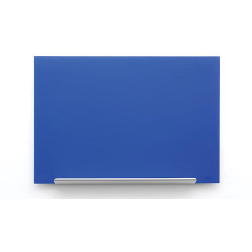 Nobo Diamond Glass Board Magnetic Scratch Resistant Fixings Included W993xH559mm Blue Ref 1905188