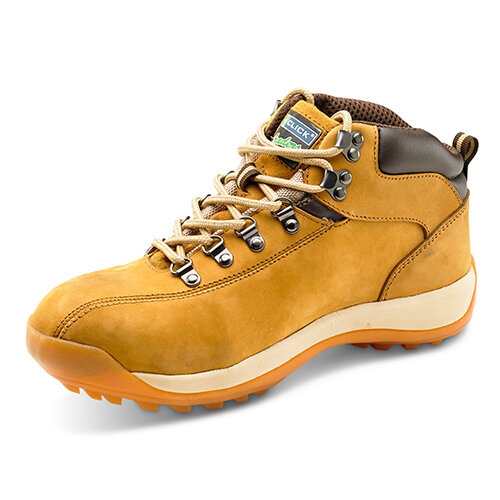 Click Traders SBP Chukka Safety Boots EVA/Rubber/Leather Nubuck Size 12 Tan - Steel Toe Cap, Slip Resistant Ref CTF33NB12