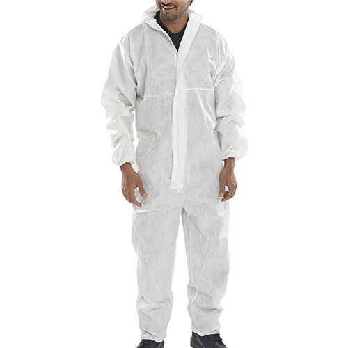 Click Once Disposable Boilersuit Work Overall Type 5/6 Size 4XL White Pack of 20 Ref COC10W4XL
