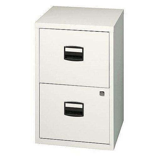 PFA2 A4 Home Filer 2-Drawer Lockable Filing Cabinet White