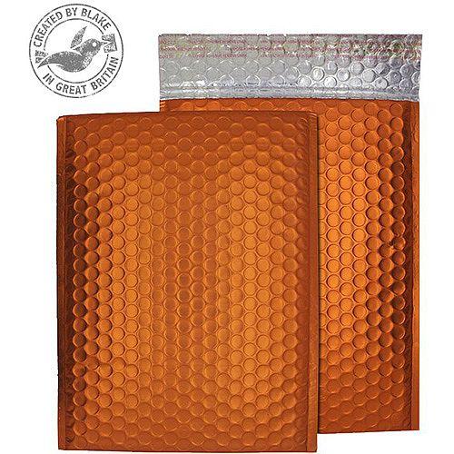 Purely Packaging Bubble Envelope P& C5+ Matt Metallic Orange Ref MTO250 [Pk 100]
