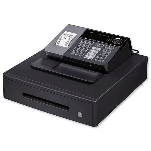 Casio Cash Register Antimicrobial 7 Segment 8 Digit 500 PLUs 20 Departments W410xD450xH205mm Ref SE-S10MD