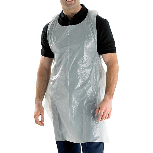 Click Once Disposable Apron 27 inch 107x69mm White Pack of 1000 Ref DA42DP
