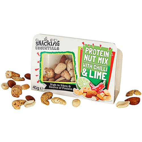 Snacking Essentials Nut Mix Chilli &Lime Snack Pot 41g Ref 512541 (Pack 9)