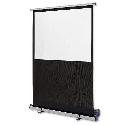Nobo Portable Floor Standing Projection Screen 1500mm Diagonal Matt White 1901955