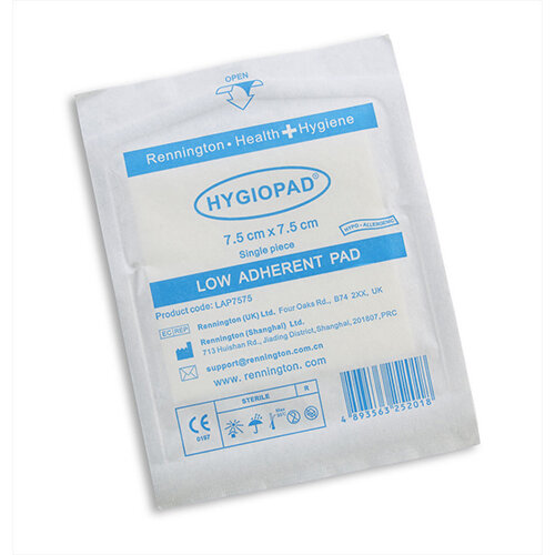 Click Medical Hygiopad 7.5x7.5cm Low Adherent Dressing Pack of 25 Ref CM0416