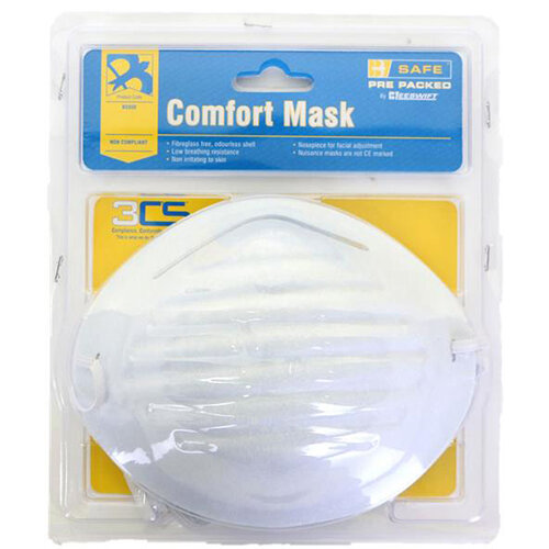 B-Safe Pre Packed Comfort Mask Fibreglass-free White Ref BS030