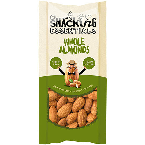 Snacking Essentials Whole Almonds Shot Packs 40g Ref 106240 Pack of 16