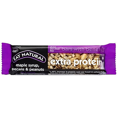 Eat Natural Extra Protein Bar Maple Syrup Pecans &Peanuts 45g Ref MPP Pack of 12
