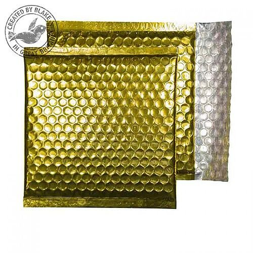 Purely Packaging Envelope P& 165x165mm Padded Met Gold Ref MBGOL165 [Pack 100]