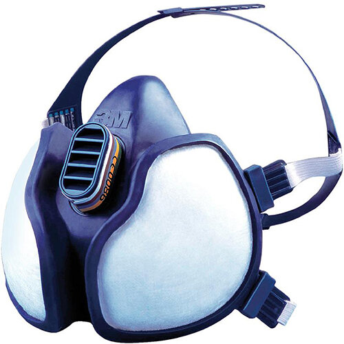 3M FFABEK1P3D Half Mask Respirator Blue Single Ref 4279