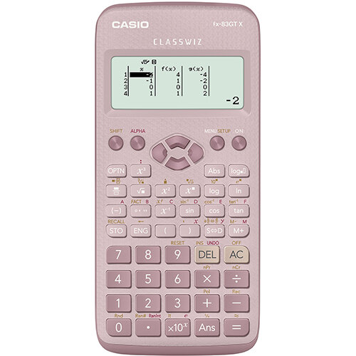 Casio FX-83GTX Scientific Calculator Exam Ready Pink Ref FX-83GTX-DP