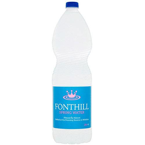 Fonthill Still Spring Water PET Plastic Bottle 2 Litre Ref FON2L6MP Pack of 6