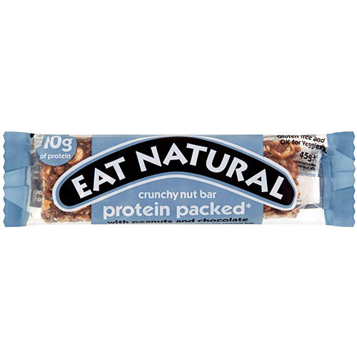Eat Natural Crunchy Nut Bar Peanuts &Chocolate 45g Ref PRO Pack of 12