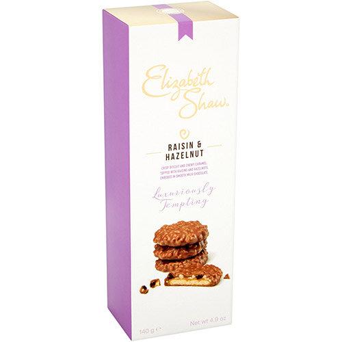 Elizabeth Shaw Raisin &Hazelnut Luxury Biscuits 140g Ref G1001