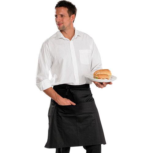 Click Workwear Chefs Half Apron 22 inch Black 29X22 Ref CCCHABL29X22