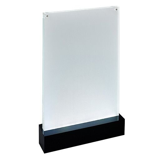 Sigel Table-top Display Frame LED Double-sided Luminous A4 Clear/Black Ref TA420