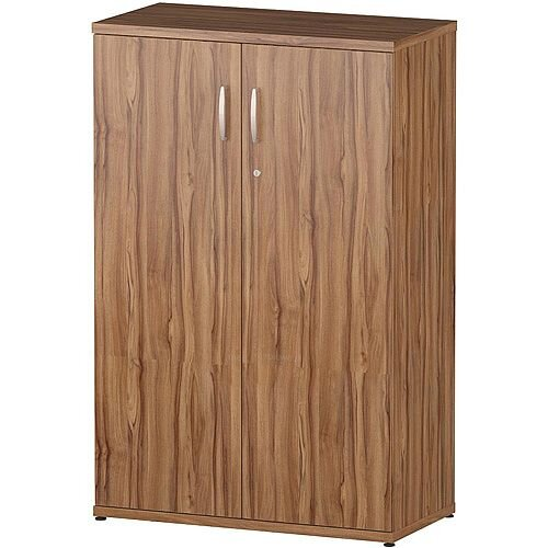 Medium Cupboard With 2 Shelves (3 Shelving Compartments) H1200xD400xW800mm Walnut