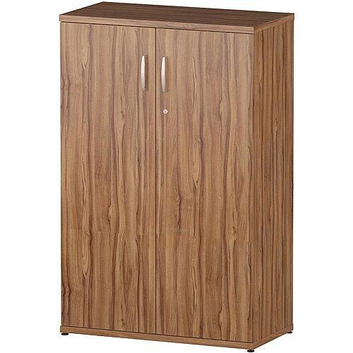 Medium Cupboard With 3 Shelves H1200mm Walnut