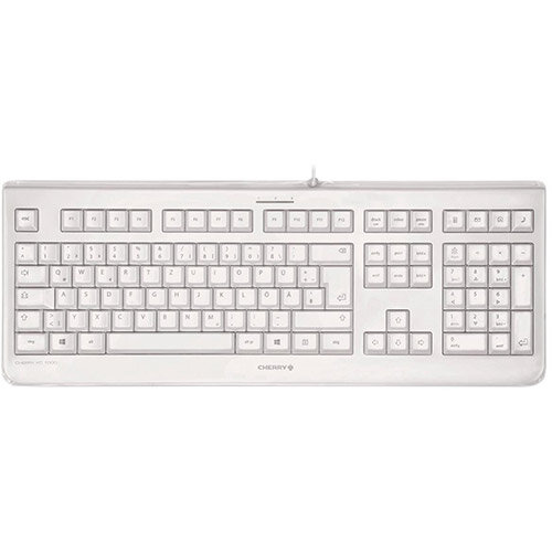 CHERRY KC 1068 Wired USB Keyboard Light Grey - UK