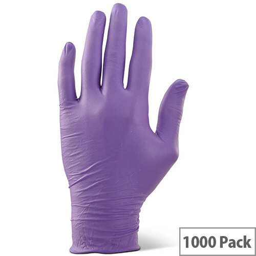 Click2000 Nitrile Examination Gloves Powder Free XL Purple Pack of 1000 Ref NDGPFPUXL