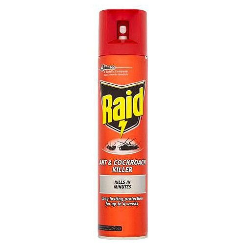 Johnson Diversey RAID Ant and Cockroach Aerosol Spray 300ml