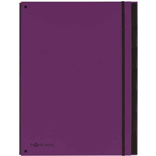 Pagna A4 7 Compartment Master Organiser Purple Pack of 10