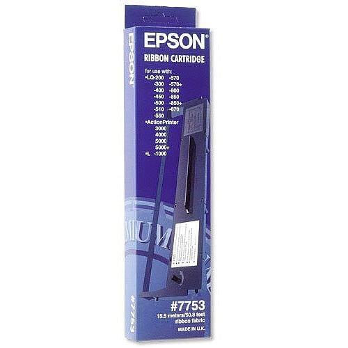 Epson Black Serial Impact Dot Matrix Ink Ribbon Cartridge For LQ-300/350 Printers C13S015633