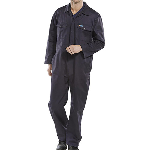 Click Workwear Boilersuit Work Overall Size 54 Navy Blue Ref PCBSN54