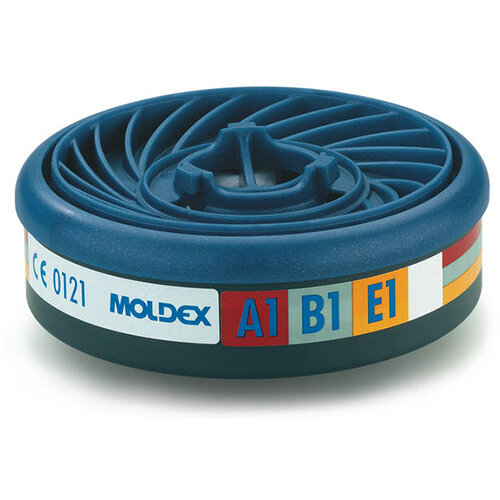 Moldex ABE1 7000/9000 Particulate Filter EasyLock System Blue Ref M9300 Pack of 5