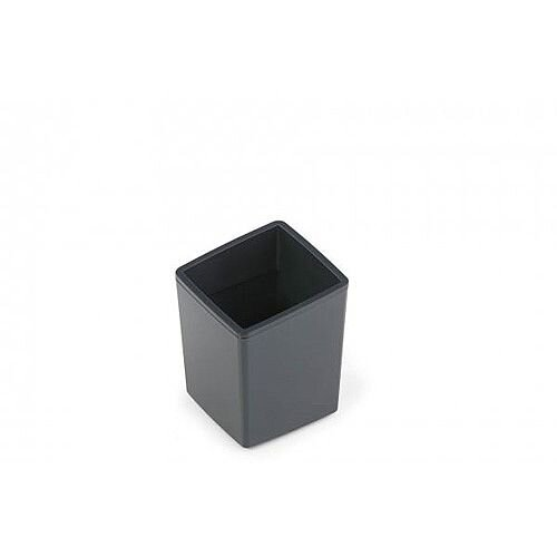 Durable Coffee Point Bin Small Recycling Container Charcoal