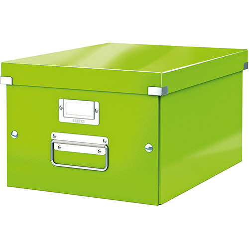 Leitz Click &Store Collapsible Storage Box Medium For A4 Green Ref 60440054