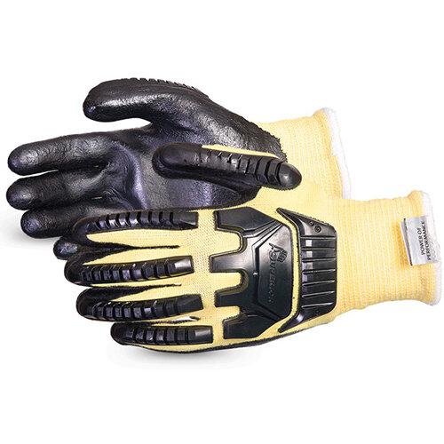 Superior Glove Dexterity Impact &Cut-Resist Kevlar L Black Ref SUSKFGFNVBL