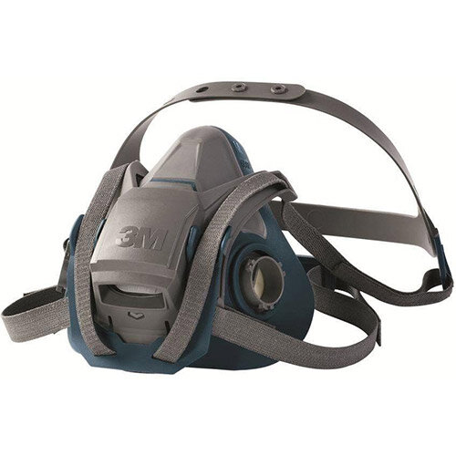 3M 6500 Series 6502QL Reusable Half Face Mask Medium Grey/Teal