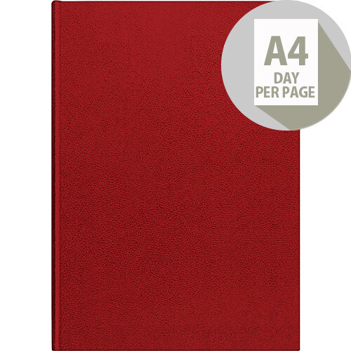 Collins 2020 Desk Diary Day to Page Sewn Binding A4 297x210mm Red Ref 44 Red 2020