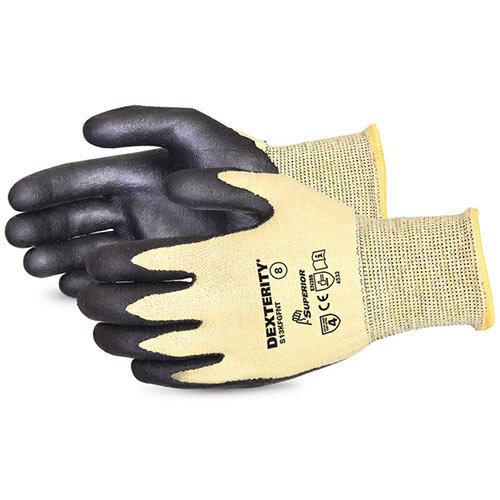 Superior Glove Dexterity Cut-Resistant Nitrile Palm 8 Black Ref SUS13KFGFNT08