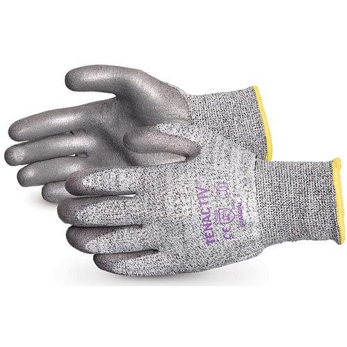 Superior Glove Tenactiv Cut-Resistant Polyurethane Palm 10 Grey Ref SUS13TAGPU10