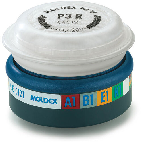 Moldex ABEKP3 7000/9000 Particulate Filter EasyLock System Blue Ref M9430 Pack of 3