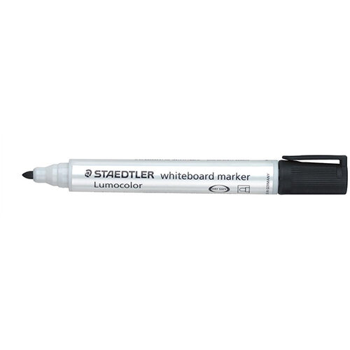 Staedtler Lumocolor 351 2mm Bullet Tip Whiteboard Marker Black 1 x Pack of 10 Ref 351-9