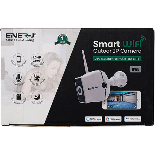 Ener-J WiFi Outdoor IP HD Security Camera With Two Way Audio Ref IPC1021