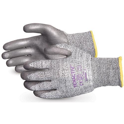 Superior Glove Tenactiv Cut-Resistant Polyurethane Palm 11 Grey Ref SUS13TAGPU11