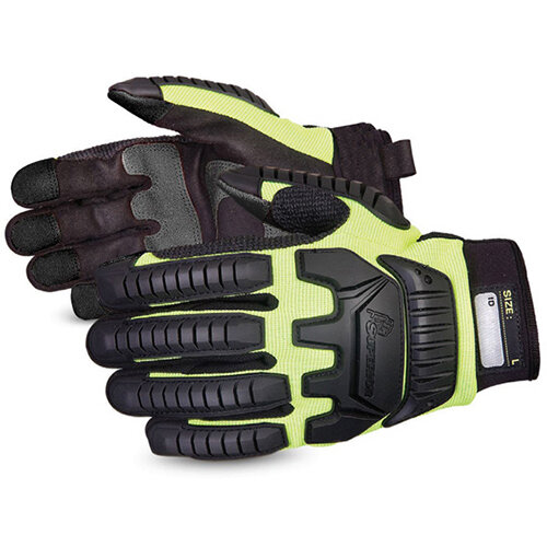 Superior Glove Clutch Gear Impact Protection Mechanics L Yellow Ref SUMXVSBL