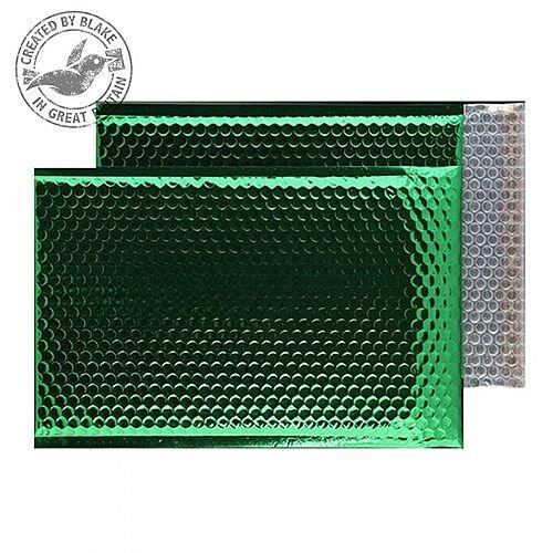 Purely Packaging Bubble Envelope P& C3 Metallic EmGreen Ref MBGRE450 [Pk 50]