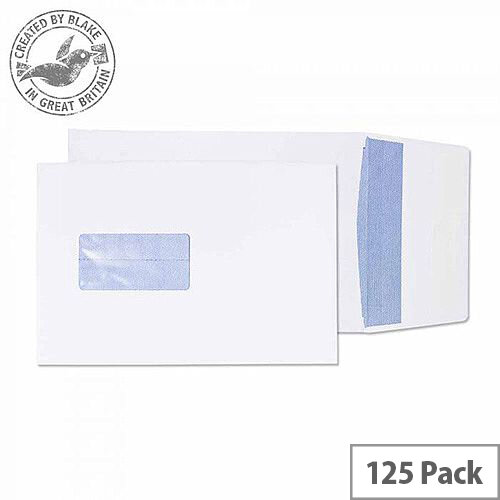Purely Packaging Envelope Gusset P& 120gsm C5 Window White Ref 6001 [Pack 125]