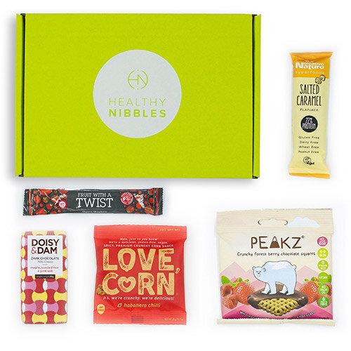 Healthy Nibbles Vegan Snack 5 Piece Mini Box Ref Vegan5