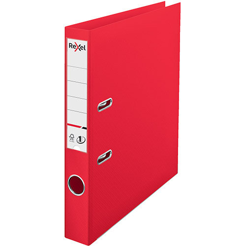 Rexel Choices Lever Arch File PP 50mm A4 Red Ref 2115508