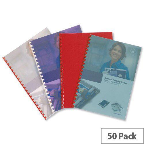 GBC PolyTechno Binding Covers Polypropylene 700 micron A4 Ice White Pack 50