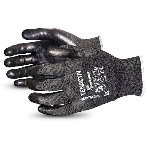 Superior Glove Tenactiv Filament Fibre Lev-5 Cut-Resist 6 Black Ref SUS18TAFGFN06
