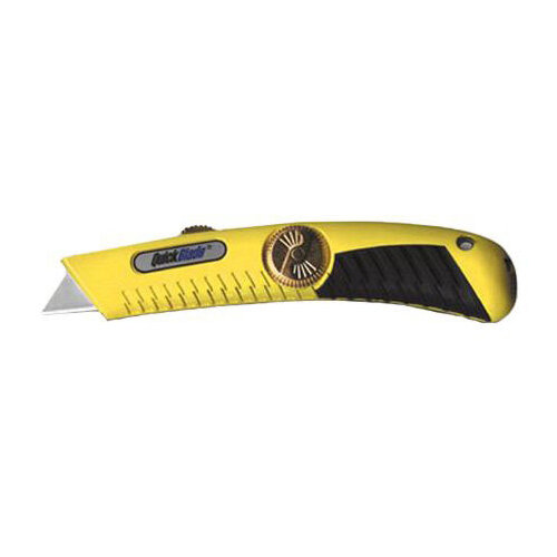 Pacific Handy Cutter Quickblade Retractable Knife Heavy Duty Yellow Ref QBR-18